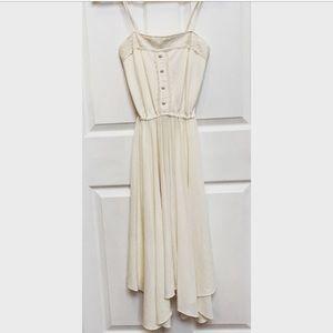 Vintage 70s Flowy Midi Dress